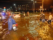 HCM City: flood tide hits record level