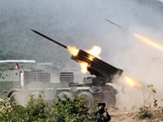 Cambodia conducts live fire drill