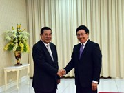 Cambodian PM welcomes Deputy PM Minh