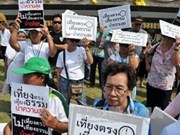 Thai people support talks to end unrest