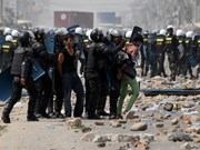 Cambodia: riot police hold regular exercise
