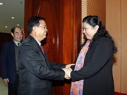 NA Vice Chairwoman greets Lao guest