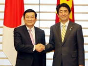President meets high-profile Japanese officials
