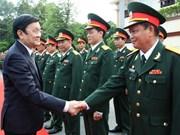 President Sang visits southern military units