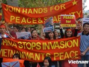 Vietnamese abroad voice unity with homeland in East Sea row