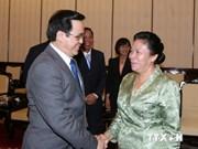 Lao Party officials visit Vietnam