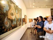 Lacquer painting display kicks off Vietnam days in Russia