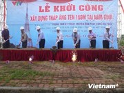 New TV tower built in northern Nam Dinh province