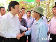 President Sang tours Quang Ninh island districts