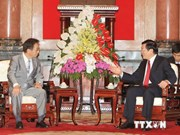 President welcomes Japanese guest