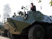 Cambodia conducts gun firing drills