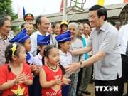 President Sang visits Quang Tri province