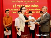 Scholarships granted to OV students in Laos