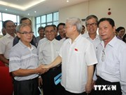 Party leader meets voters in Ba Dinh, Tay Ho districts