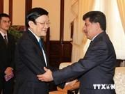 President Truong Tan Sang receives outgoing Qatari Ambassador