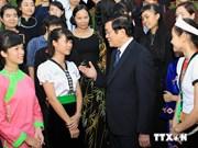 President hails outstanding ethnic minority students