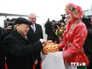 Party chief begins official visit to Belarus