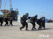 Central coastal city holds anti-terrorism exercise