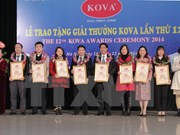 KOVA awards honour researchers