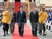 President starts Cambodia visit, discusses ties with King