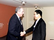 Deputy PM holds bilateral meetings at WEF 2015