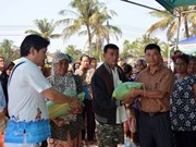 Tet gifts given to Vietnamese in Cambodia