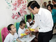 President pays Tet visit to HCM City's Cu Chi district