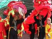 Grannies in southern Vietnam perform lion dances for over 30 years