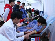 Blood donation event receives attention in Hanoi