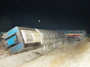 Train crash leaves one dead, four injured