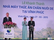 De Heus Vietnam opens animal feed plant in Vinh Phuc