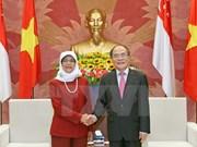Vietnam, Singapore parliaments increase partnership