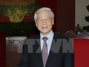Party leader begins official visit to China