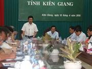 Deputy PM discusses Kien Giang's FDI, border management