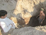 War-time tunnel unearthed in Quang Nam
