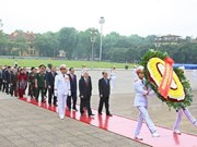 Vietnamese leaders pay tribute to late President Ho Chi Minh