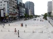 Pedestrian walkway opens in busy HCM City street