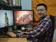 Vietnamese stone lions roar online