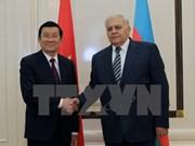 President meets Azerbaijani NA Speaker, PM