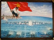 Buddhist monk bids high for painting of Gac Ma island battle