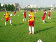 Vietnam get off to good start at girl football contest