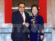 Vice President holds talks with Lao counterpart