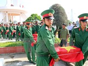 More remains of Vietnamese soldiers repatriated from Cambodia