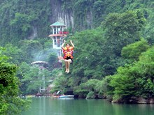 Vietnam's longest zip-line lures tourists to Quang Binh
