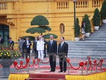 Grand ceremony to welcome US President Barack Obama