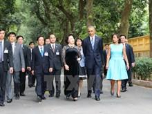 US President Barack Obama at Ho Chi Minh Relic Site