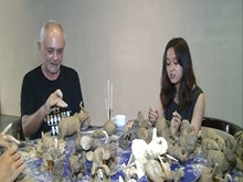 Clay modelling raises awareness of elephant protection