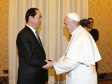 Vietnamese President meets with Pope Francis