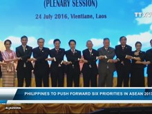 Philippines to push forward six priorities in ASEAN
