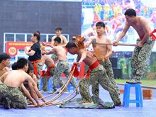 Commandos perform thrilling martial art demonstrations